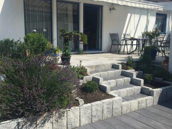 GaLa-Bau, Terrasse mit Treppenbau, Garten und Landschaftsbau