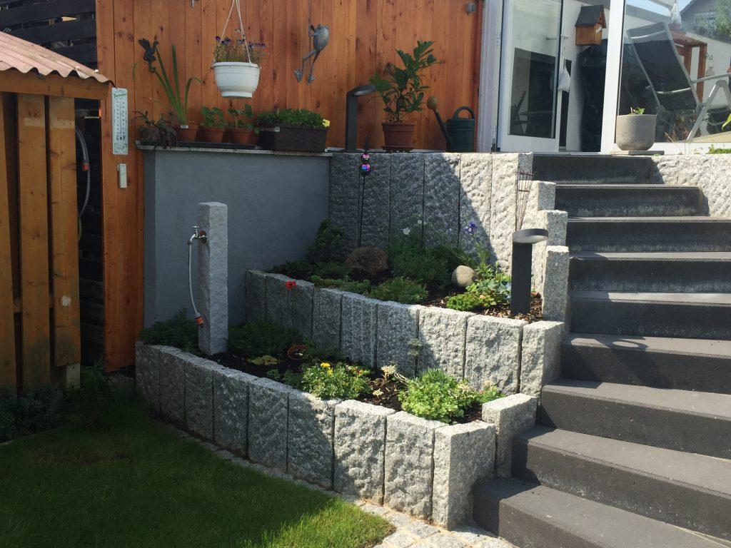 Treppenbau mit Wassermanagement